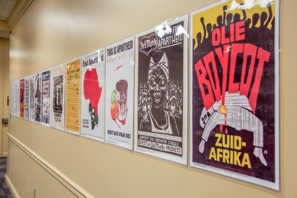 These flyers were hung around Schwitzer to gain support for the resolution. Photo by Skylar May
