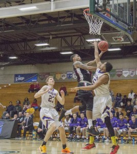 Senior guard Joe Retic had 21 points in the Greyhounds' win over the Ashland University Eagles. Photo by Shane Collins-Yosha