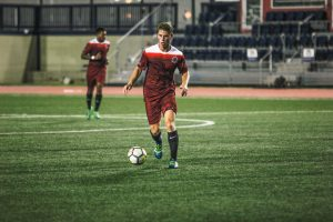 Junior midfielder Brett Langley returned to UIndy for camp in preparation for the upcoming season. Photo by Cassie Reverman