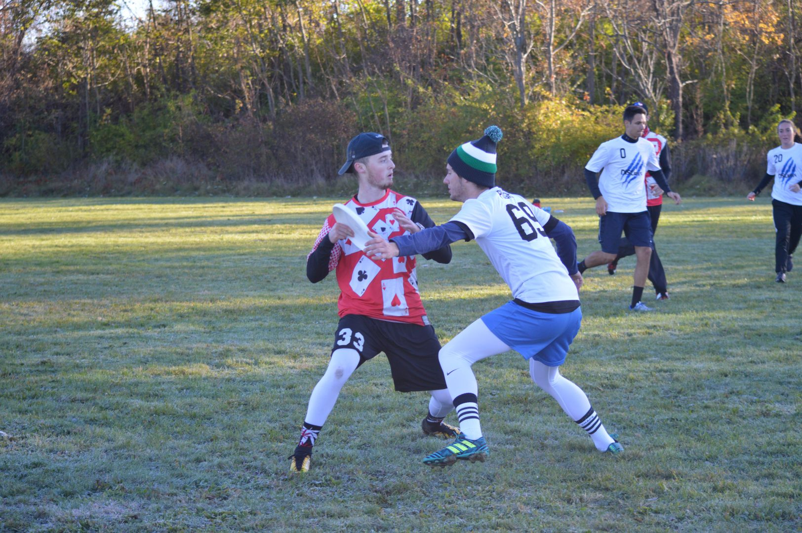 In this file photo, senior exercise science major Ben Hooker looks upfield during an ultimate frisbee game.